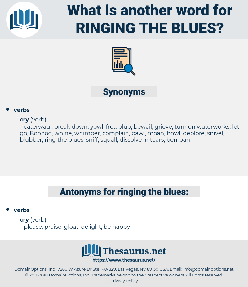 ringing the blues, synonym ringing the blues, another word for ringing the blues, words like ringing the blues, thesaurus ringing the blues