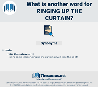 ringing up the curtain, synonym ringing up the curtain, another word for ringing up the curtain, words like ringing up the curtain, thesaurus ringing up the curtain