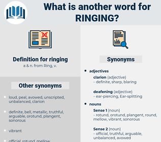 ringing, synonym ringing, another word for ringing, words like ringing, thesaurus ringing