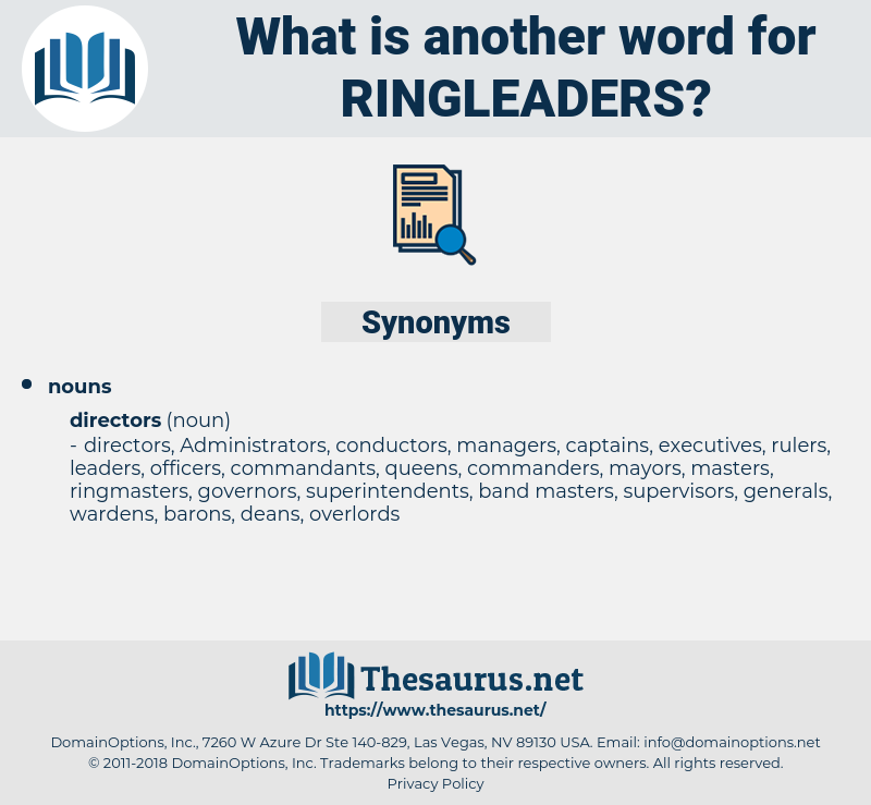 ringleaders, synonym ringleaders, another word for ringleaders, words like ringleaders, thesaurus ringleaders