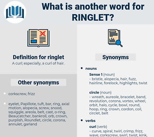 ringlet, synonym ringlet, another word for ringlet, words like ringlet, thesaurus ringlet