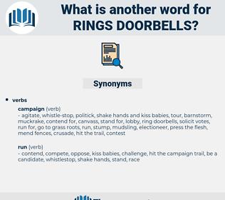 rings doorbells, synonym rings doorbells, another word for rings doorbells, words like rings doorbells, thesaurus rings doorbells