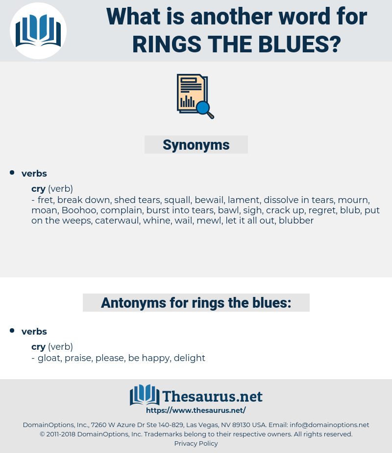 rings the blues, synonym rings the blues, another word for rings the blues, words like rings the blues, thesaurus rings the blues