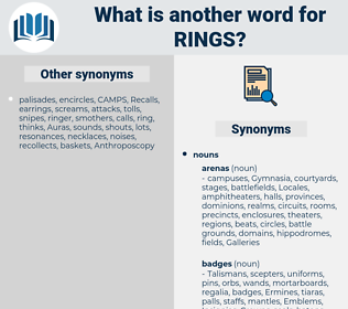 rings, synonym rings, another word for rings, words like rings, thesaurus rings