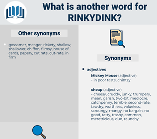 rinkydink, synonym rinkydink, another word for rinkydink, words like rinkydink, thesaurus rinkydink
