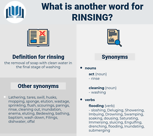 rinsing, synonym rinsing, another word for rinsing, words like rinsing, thesaurus rinsing