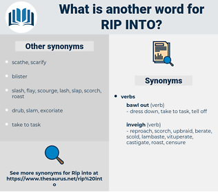 rip into, synonym rip into, another word for rip into, words like rip into, thesaurus rip into