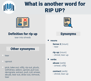 rip up, synonym rip up, another word for rip up, words like rip up, thesaurus rip up