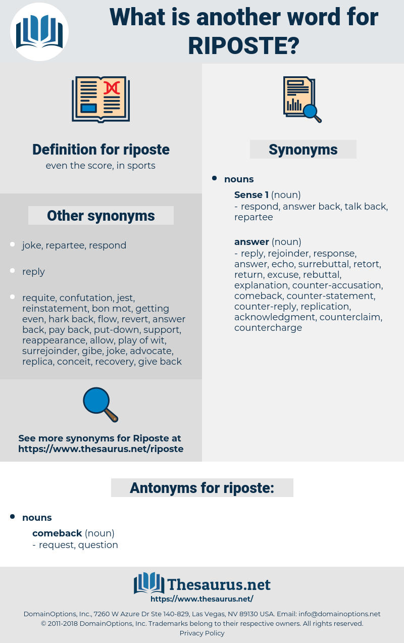 riposte, synonym riposte, another word for riposte, words like riposte, thesaurus riposte