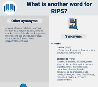 rips, synonym rips, another word for rips, words like rips, thesaurus rips