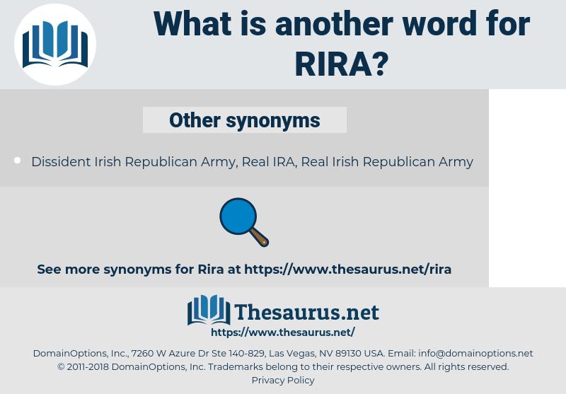 RIRA, synonym RIRA, another word for RIRA, words like RIRA, thesaurus RIRA