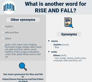 rise and fall, synonym rise and fall, another word for rise and fall, words like rise and fall, thesaurus rise and fall
