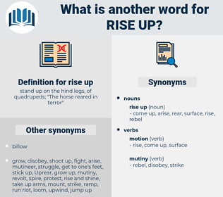 rise up, synonym rise up, another word for rise up, words like rise up, thesaurus rise up