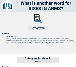 rises in arms, synonym rises in arms, another word for rises in arms, words like rises in arms, thesaurus rises in arms