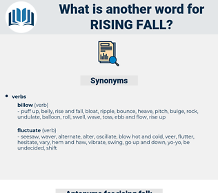 rising fall, synonym rising fall, another word for rising fall, words like rising fall, thesaurus rising fall