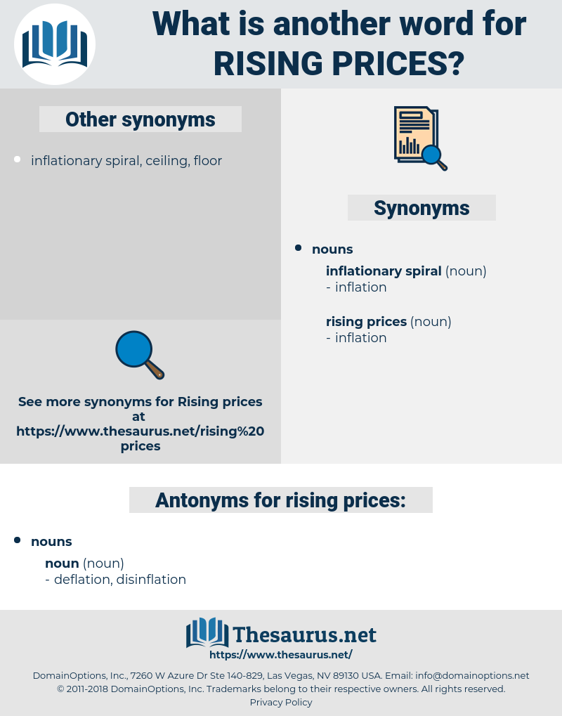 rising prices, synonym rising prices, another word for rising prices, words like rising prices, thesaurus rising prices