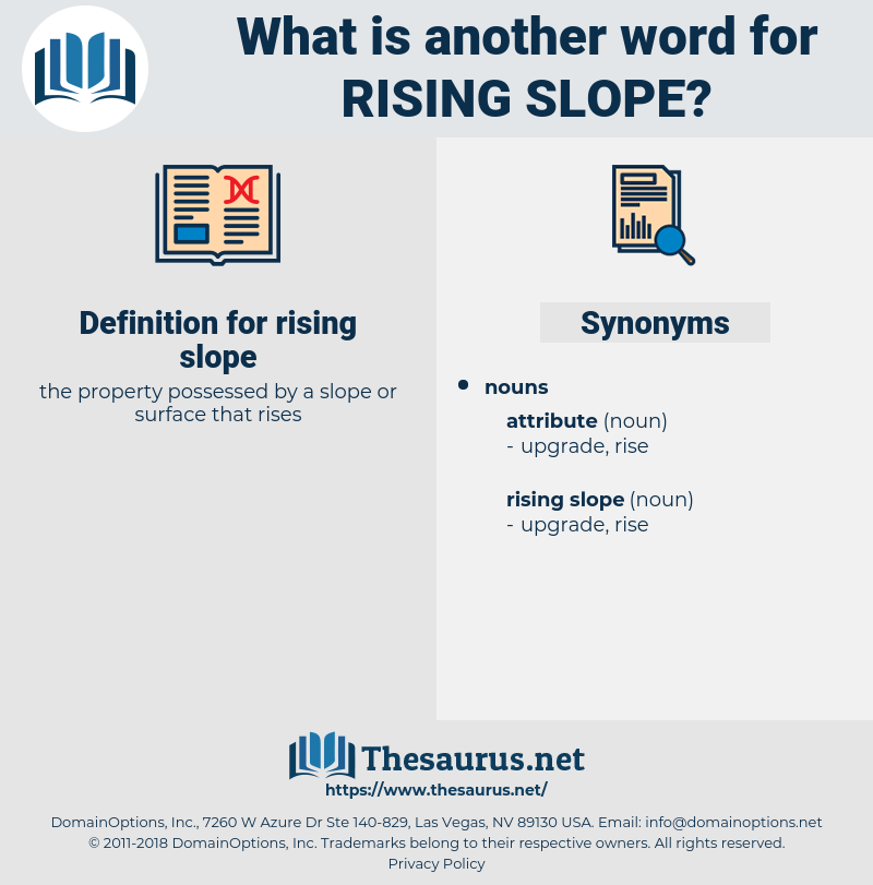 rising slope, synonym rising slope, another word for rising slope, words like rising slope, thesaurus rising slope