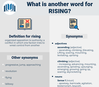 rising, synonym rising, another word for rising, words like rising, thesaurus rising