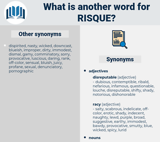 risque, synonym risque, another word for risque, words like risque, thesaurus risque