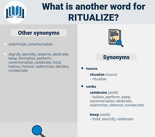 ritualize, synonym ritualize, another word for ritualize, words like ritualize, thesaurus ritualize