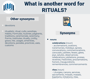 rituals, synonym rituals, another word for rituals, words like rituals, thesaurus rituals