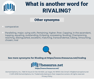 Rivaling, synonym Rivaling, another word for Rivaling, words like Rivaling, thesaurus Rivaling