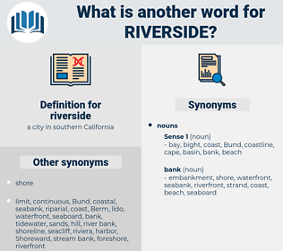 riverside, synonym riverside, another word for riverside, words like riverside, thesaurus riverside