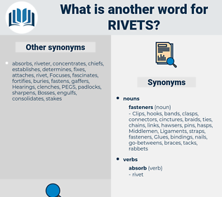 rivets, synonym rivets, another word for rivets, words like rivets, thesaurus rivets