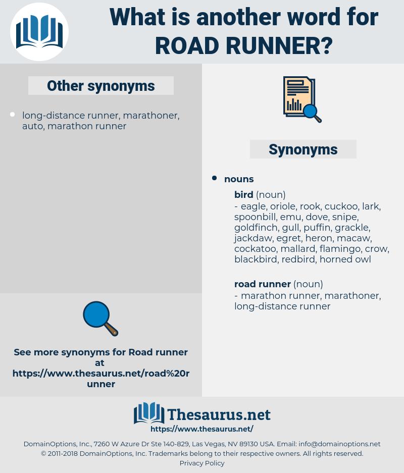 road runner, synonym road runner, another word for road runner, words like road runner, thesaurus road runner