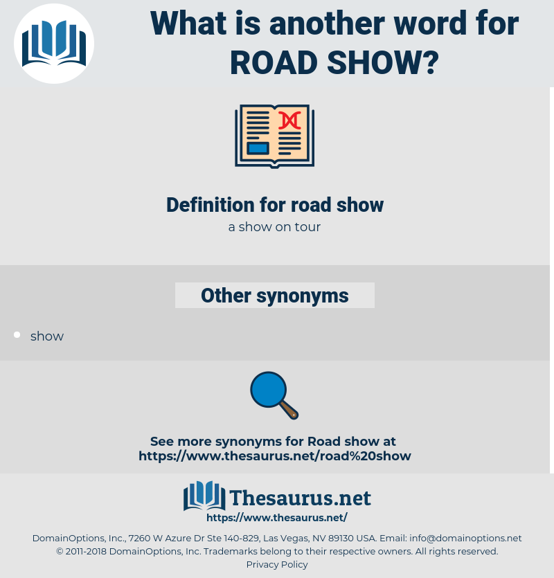 road show, synonym road show, another word for road show, words like road show, thesaurus road show