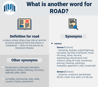 road, synonym road, another word for road, words like road, thesaurus road