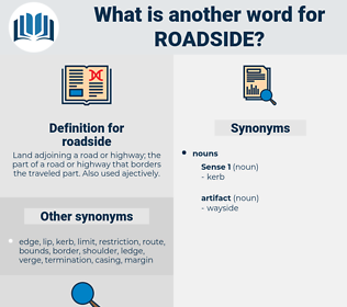 roadside, synonym roadside, another word for roadside, words like roadside, thesaurus roadside