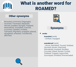 Roamed, synonym Roamed, another word for Roamed, words like Roamed, thesaurus Roamed