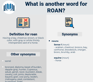 roan, synonym roan, another word for roan, words like roan, thesaurus roan