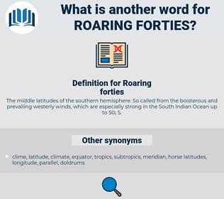 Roaring forties, synonym Roaring forties, another word for Roaring forties, words like Roaring forties, thesaurus Roaring forties