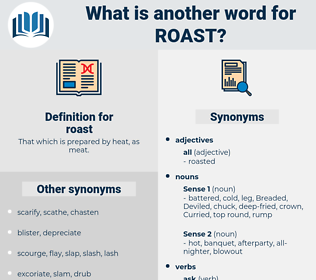 roast, synonym roast, another word for roast, words like roast, thesaurus roast