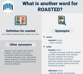 roasted, synonym roasted, another word for roasted, words like roasted, thesaurus roasted