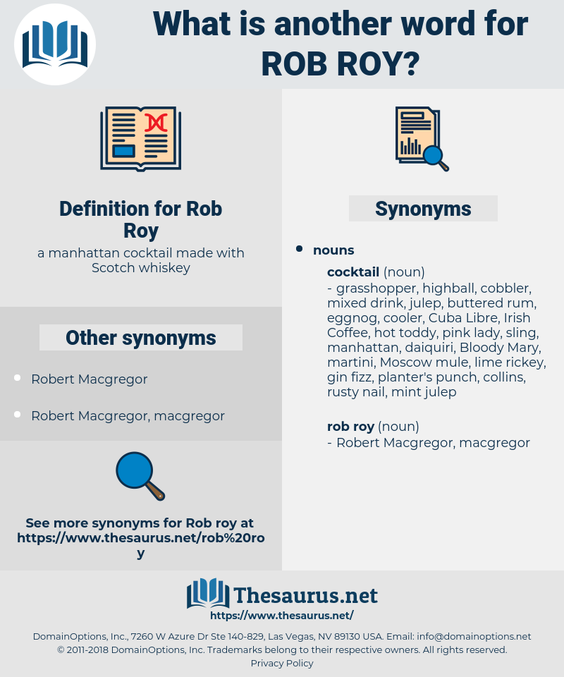 Rob Roy, synonym Rob Roy, another word for Rob Roy, words like Rob Roy, thesaurus Rob Roy