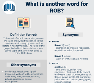 rob, synonym rob, another word for rob, words like rob, thesaurus rob