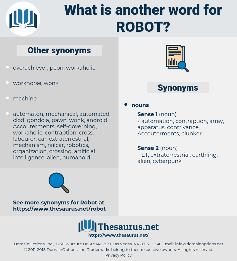 robot, synonym robot, another word for robot, words like robot, thesaurus robot