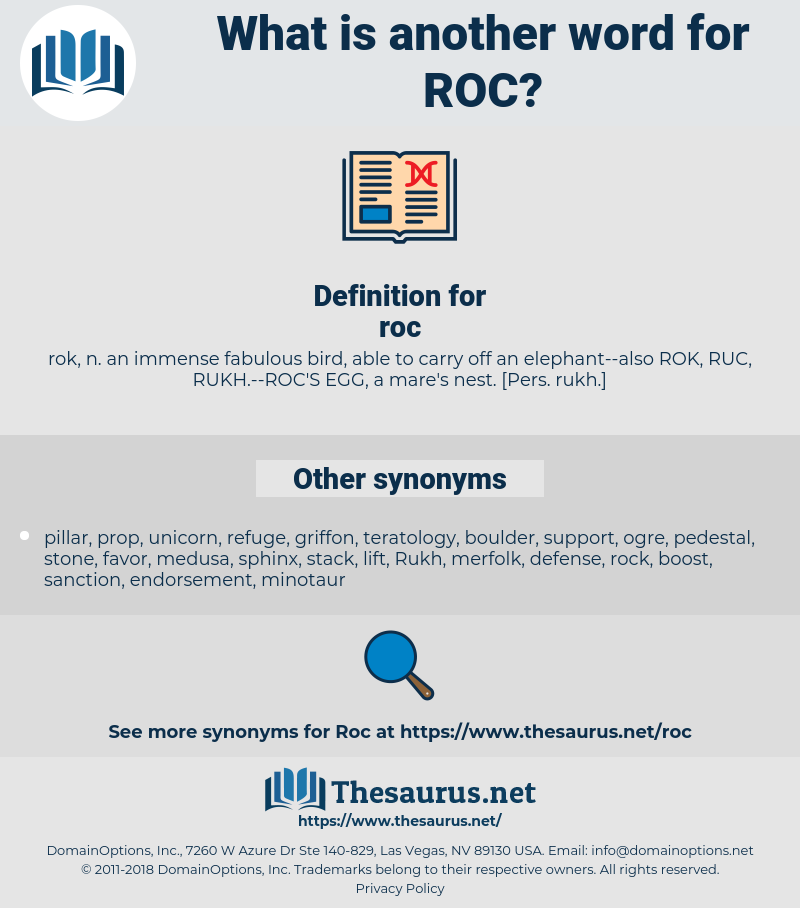 roc, synonym roc, another word for roc, words like roc, thesaurus roc