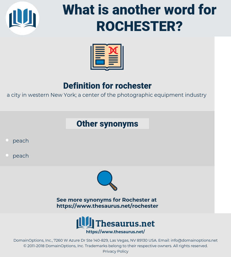 rochester, synonym rochester, another word for rochester, words like rochester, thesaurus rochester