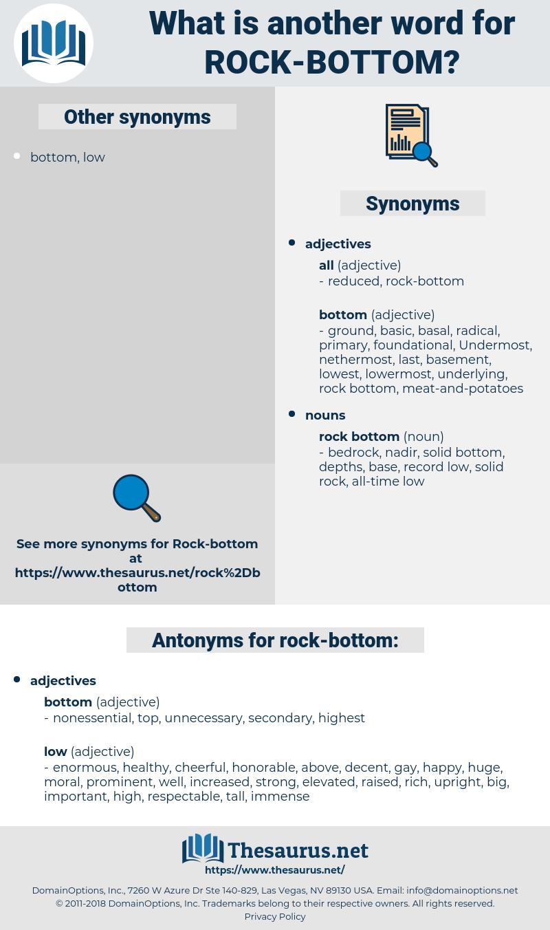 rock bottom, synonym rock bottom, another word for rock bottom, words like rock bottom, thesaurus rock bottom