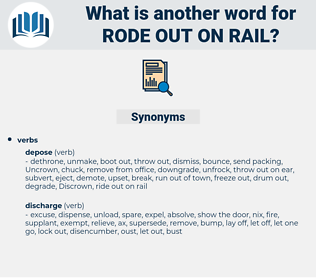 rode out on rail, synonym rode out on rail, another word for rode out on rail, words like rode out on rail, thesaurus rode out on rail