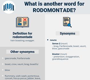 rodomontade, synonym rodomontade, another word for rodomontade, words like rodomontade, thesaurus rodomontade