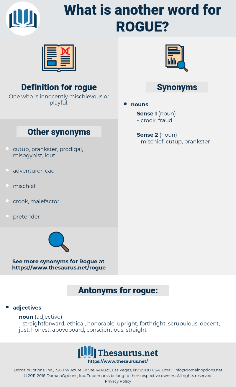 synonyms for rogue - thesaurus