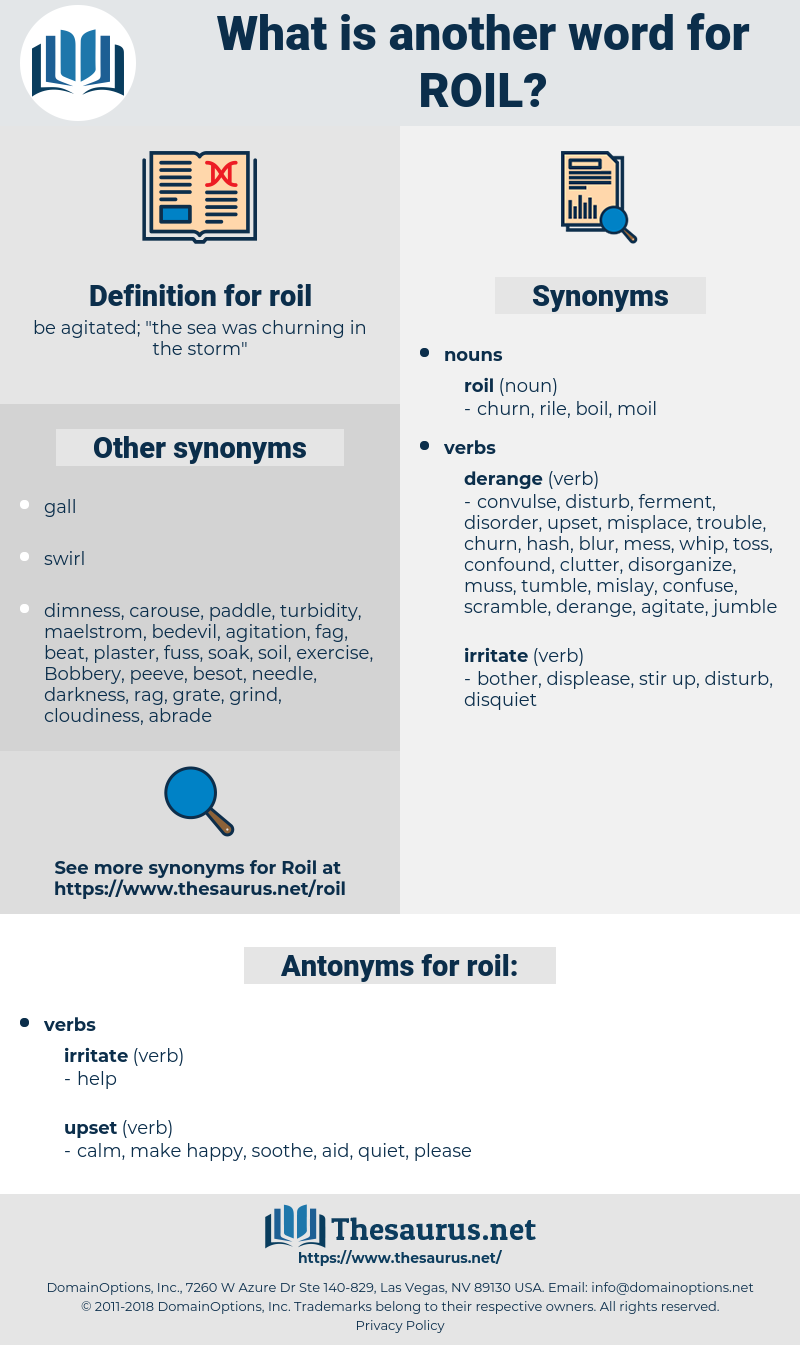 roil, synonym roil, another word for roil, words like roil, thesaurus roil