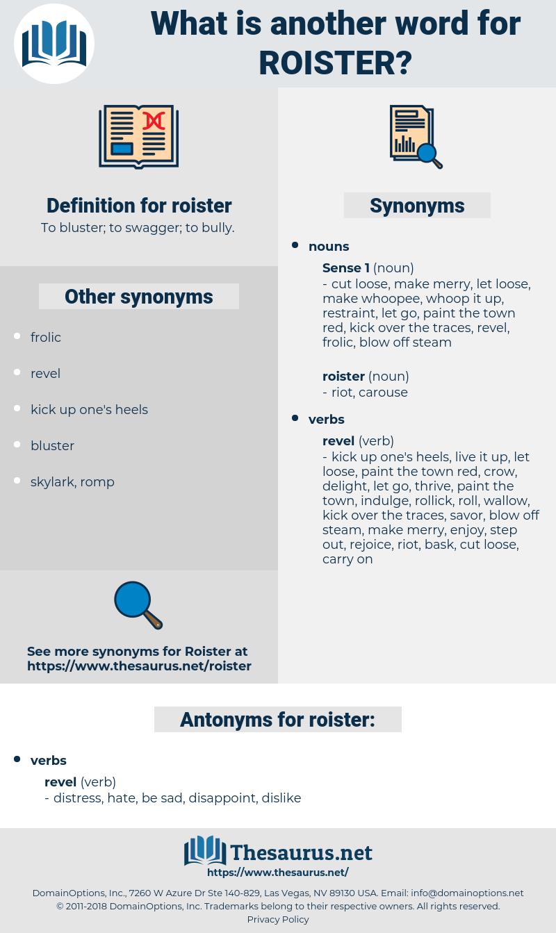 roister, synonym roister, another word for roister, words like roister, thesaurus roister