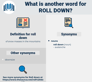 roll down, synonym roll down, another word for roll down, words like roll down, thesaurus roll down