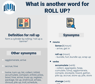 roll up, synonym roll up, another word for roll up, words like roll up, thesaurus roll up